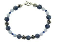 Denim and Lace Bracelet--Shop at brightlingsbeads.com!!