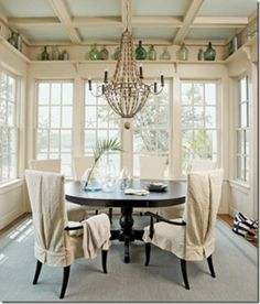 conservatory style breakfast room. Design by Tammy Connor.