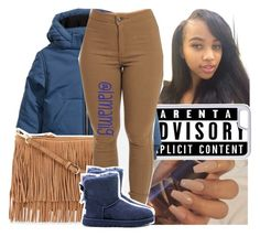 """""""tory lanez~say it"""" by lamamig ❤ liked on Polyvore featuring CellPowerCases, H&M, Rebecca Minkoff and UGG Australia"""