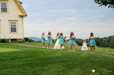 Michelle & the girls heading to the ceremony #RanchGolfClubSouthwickMa