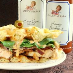 Savoury Table: Saucy Mama's 2014 Recipe Contest and Giveaway: Honey Dijon Fried Chicken and Bacon Wafflewiches