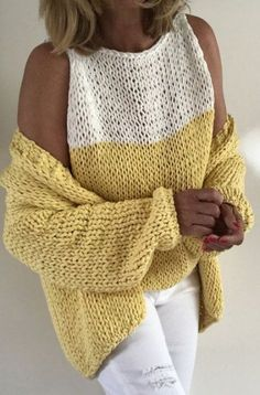Trendy Ideas For Knitting Patterns Free Cardigans Chunky - Knitting patterns Knit Cardigan Pattern, Vest Pattern, Sweater Knitting Patterns, Knit Patterns, Free Chunky Knitting Patterns, Pull Crochet, Knit Crochet, Chunky Crochet, Summer Knitting