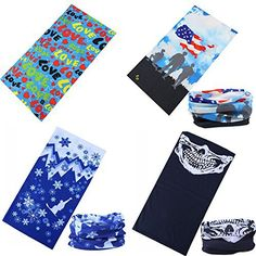 Your Choice 4 Pack Christmas Flag Red Heart Ghost Comfortable Men Outdoor Bike Headwear Women Outdoor Sport Magic Multifunction Seamless Headscarf Headband Face Mask Neck Warmer Wind Protect For Motorcycle Bike Ski Outdoor Activities  #Activities #Bike #Choice #Christmas #Comfortable #Face #Flag #Ghost #Headband #Headscarf #Headwear #Heart #Magic #Mask #Motorcycle #Multifunction #Neck #Outdoor #Pack #Protect #Seamless #Sport #Warmer #Wind #Women CyclingDuds.com