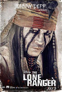 The Lone Ranger starring Johnny Depp, movie poster