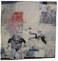 This book is abut drawing..  Mixed media. collage on paper. cm. 120x130.  Artist: Massimo Nota