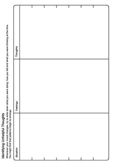 MOODJUICE - Identifying Unhelpful Thoughts Worksheet - Self-help Guide