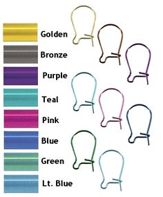 Kid's Non Allergenic Earrings at Wear Earrings Again with Maggie's Creations - Non-Allergenic Jewerly, guaranteed!