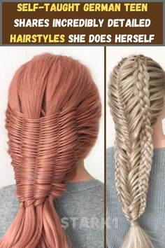 A German teen is getting lots of attention – and deservedly so – for the amazing hairstyle creations she posts on Instagram. 17-year-old Milena has been interested in creating unique and elaborate hairstyles since she was just 6, but over the last decade, her creations have come to resemble something between braids and woven patterns reminiscent of detailed textiles.
