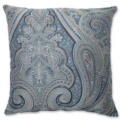 Pillow Perfect Royal Paisley Blue Throw Pillow | Overstock.com Shopping - The Best Deals on Throw Pillows