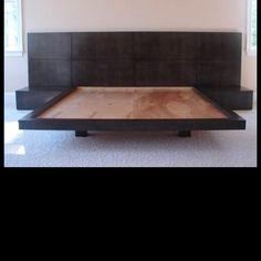 Custom king bed. Headboard. FFTcabinetry.com