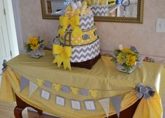 Gray and Yellow Party Decorations | Baby Shower Decorations, Yellow and Grey ... | Let's have a party!