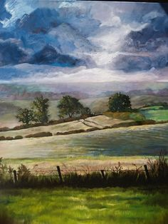 Countryside, Artist, Painting, Artists, Painting Art, Paintings, Painted Canvas, Drawings