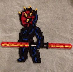 Darth Maul Star Wars hama beads by gadgetpixelart