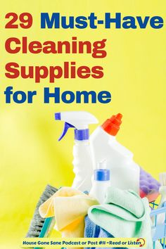 What are the best cleaning products for housekeeping? It can be a challenge keeping your house clean and under control, but the right cleaning materials & products will help. So here are the 29 must have cleaning tools and products you need for home. #cleaningsupplies #housekeeping #cleaningessentials #cleaningproducts Best Cleaning Products, Household Cleaning Supplies, Cleaning Materials, Daily Cleaning Checklist, House Cleaning Tips, Cleaning Hacks, Eureka Vacuum, Clean My House, Oven Cleaner