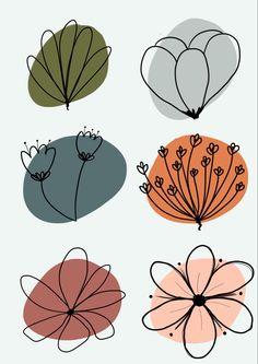 Watercolor Flowers, Watercolor Art, Illustration Blume, Abstract Line Art, Bullet Journal Inspiration, Doodle Art, Diy Art, Art Inspo, Art Projects