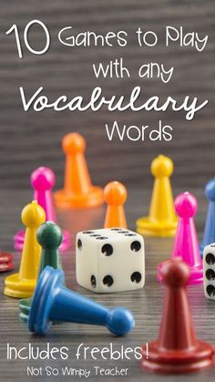 Need new ways to learn Vocabulary words? Check out these 10 fun hands on games for working on vocabulary words!