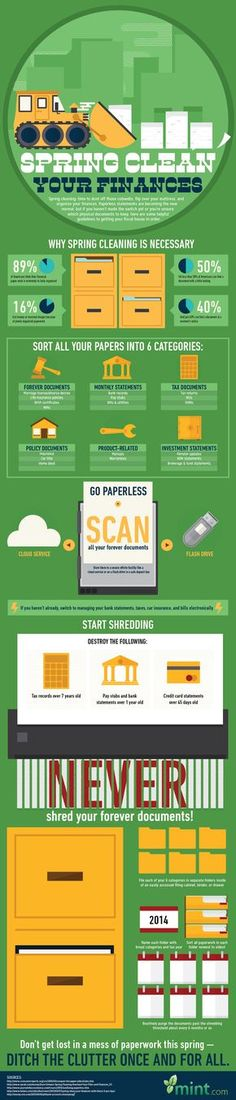 Spring Clean You Finances, financial planning,   #Infographic #Finance #Spring