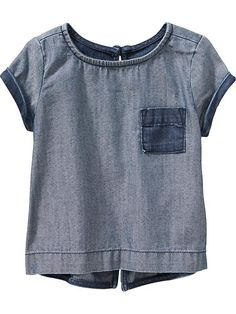 Two-Tone Denim Top for Baby