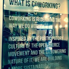 What is coworking? Our #newwest office tells us exactly what it means! #fromwherewework #newwest #wednesdays #like #coworking #define #office #cowork #hub #incubator