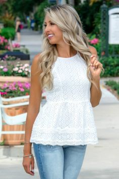 206c8862ef6 Pretty in Peplum White Ivory Eyelet Top Shop Simply Me Boutique – Simply Me  Boutique