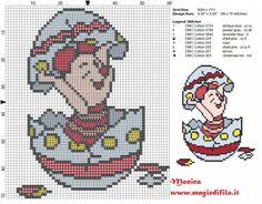 Schema punto croce Pimpi nell'uovo 60x71 8 colori.jpg