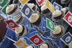 Food/decor - Game Night Party - Uno cupcake picks