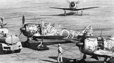 Nakajima Ki-44 at Akeno Field, Japan .