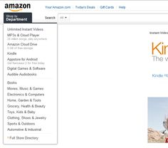 Amazon.com hoofdpagina