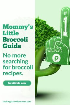 Want to learn how to cook broccoli for your baby, toddler or older kid, without ever looking for broccoli recipes again? Then this resource is just what you need to get you started. Healthy Baby Food, Healthy Meals For Kids, Meals For One, Toddler Meals, Baby Meals, Kid Meals, Toddler Food, Baby First Foods, Baby Finger Foods
