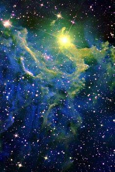 Flaming star nebula so beautiful