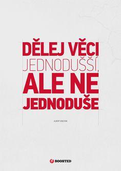 Motivační plakát Jednodušší věci (Česky)