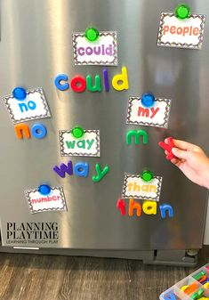 Sight Words Kindergarten Activities, Printables and Worksheets - Magnet Spelling Looking for fun kindergarten sight words activities and printables? Hands on sight words activities and interactive binders for home, school or on the go. E Learning, Kindergarten Learning, Preschool Learning Activities, Learning Through Play, Preschool Activities, Educational Activities, Preschool Letters, Kindergarten Sight Words, Alphabet Activities