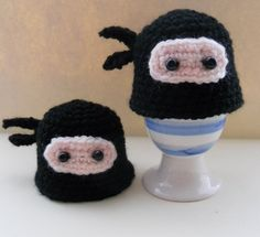 Amigurumi ninja egg cozies #amigurumi #crochet #ninja- I think I would like to turn these into eggs
