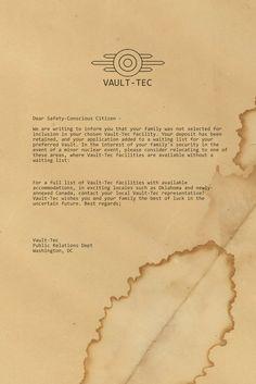 letter from vault tec by emptysamurai on DeviantArt