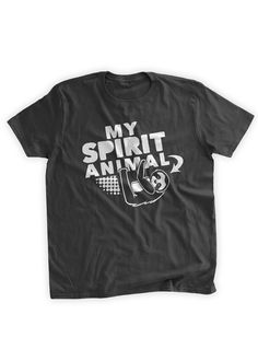 Sloth My Spirit Animal T-Shirt Funny Sloth Shirt Sloth Nap Napping Slow Work Out Spirit Animal Family Mens Ladies Womens Youth Kids T-shirt