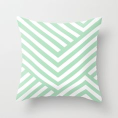 Buy Mint Stripes by Liv B as a high quality Throw Pillow. Worldwide shipping available at Society6.com. Just one of millions of products available.