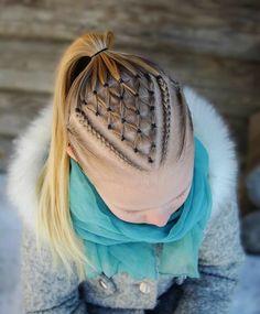 Best Braids Frisuren Cornrows Updo Ideen, Check more at - - Braided Bun Hairstyles, Braided Ponytail, Cool Hairstyles, Cornrows Updo, Gymnastics Hair, Natural Hair Styles, Long Hair Styles, Braids For Kids, Toddler Hair