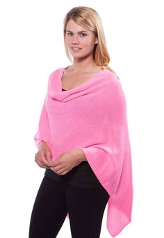 One poncho wear it 4 ways. Ships Free! Comes in 50+ Colors! Color - Candy Pink.