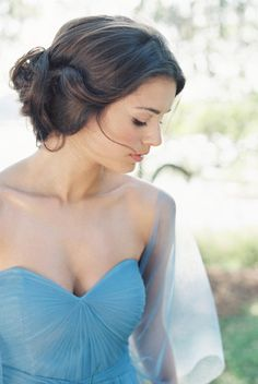 a bridesmaid in blue   Annabelle dress in steel blue by Jenny Yoo for BHLDN   via: grey likes weddings