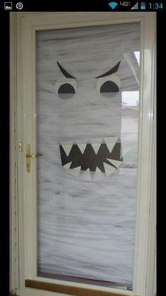 Cool Halloween door...took me forever to mummify it.