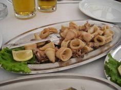 Fried squid (fried calamari)