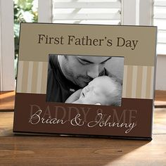 First Father's Day Personalized Picture Frames - 8428