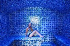 The mosaic tiled steam room with subtle lighting creates a relaxing ambience to melt away the stress of modern day life. The perfect place to give your body that detox feeling and to cleanse and moisturise your skin. Invigorating! Steam Sauna, Sauna Room, Steam Room, Hotel Spa, Perfect Place, Mosaic Tiles, Cleanse, Detox, Stress