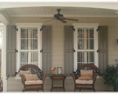 I like the shutters and what they add to the whole look. Image detail for -House Shutters Exterior Ideas / Best Photos and Pictures of Home . Home, Exterior Color Schemes, New Homes, House, Shutters Exterior, House Interior, Tan House, House Shutters, Exterior House Color