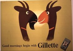 Vintage Advertising Posters | Gillette razors