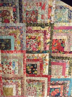 Details of Liberty Hopscotch quilt designed by Sandra Boyle of Everyday quilts made by Suzanne Price of the Quilter's House 2016