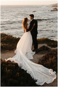Romantic Sunset Elopement on the cliffs of Big Sur – wedding photography bride and groom Big Sur Wedding, Wedding First Look, Wedding Shoot, Dream Wedding, Wedding Dress, Elopement Wedding, Wedding Summer, Wedding Photoshoot, Wedding Decor