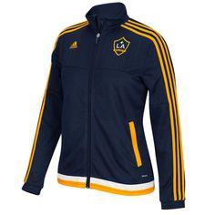 Women's LA Galaxy adidas Navy Blue Anthem ClimaCOOL Full Zip Jacket