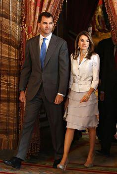 Crown Prince Felipe & Letizia of Spain Cervantes 2009 Luncheon, Madrid.