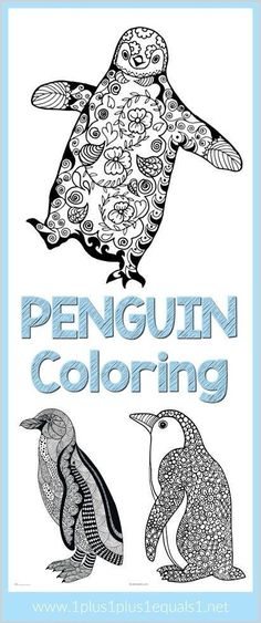 free penguin template printable Penguin craft, writing sheet or - copy coloring pages birds in winter